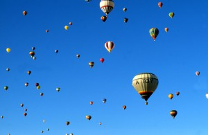 Hot Air Balloons at the Albuquerque International Balloon Fiesta, New Mexico