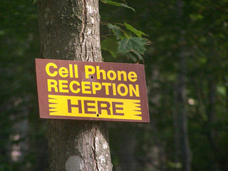 Cell Phone Reception Here