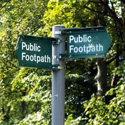 Cotswolds Public Footpath Sign