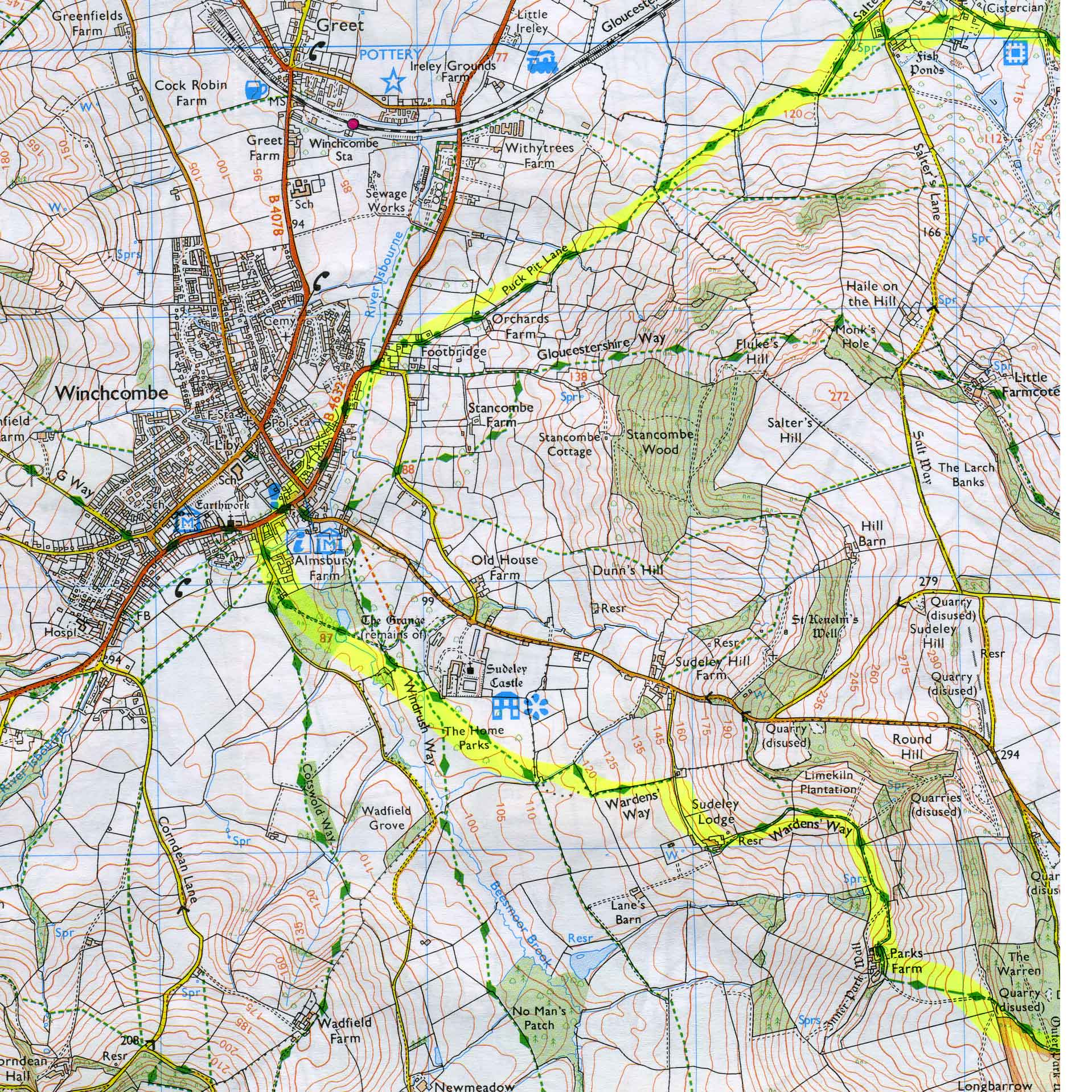 Topo Map Cotswolds